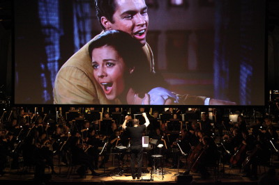 Leonard Bernstein's West Side Story performed at Tanglewood, David Newman conducting the Boston Symphony Orchestra; Hilary Scott photo.