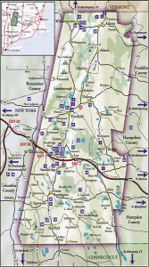 Map of Berkshire county, Massachusetts.