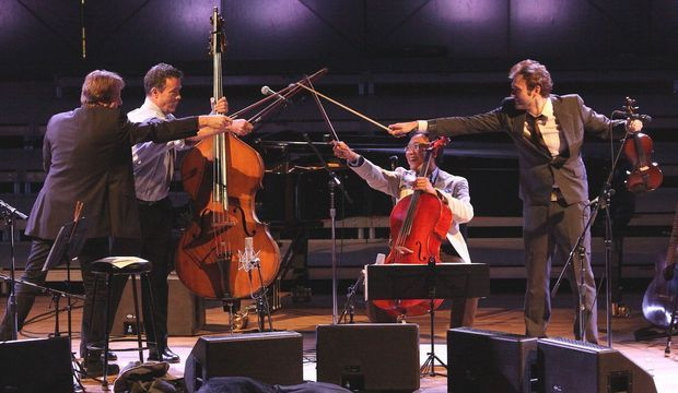 Yo Yo Ma's Goat Rodeo Show at Tanglewood; Hilary Scott photo.