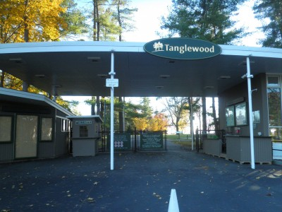 Fall view of the Main Gate at Tanglewood in the Berkshires.