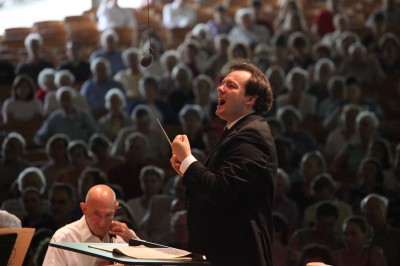 Andris Nelsons Conducts the Boston Symphony on July 15 2012; photo:Hilary Scott