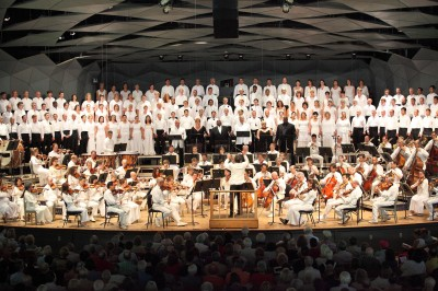 BSO and Tanglewood Festival Chorus performing Verdi at Tanglewood, July 27, 2014.