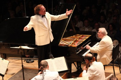 Stephane Deneve leads the BSO in Beethoven's Piano Concerto No. 5 with soloist Emanuel Ax, 8.15.14 (Hilary Scott)