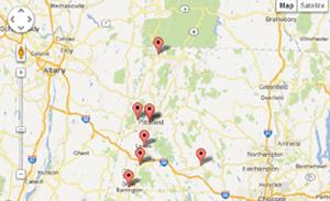 Berkshires map