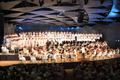 Beethoven Symphony 9 at Tanglewood Aug. 24, 2014 final program by the Boston Symphony Orchestra summer home in the Berkshires, led by Charles Dutoit.