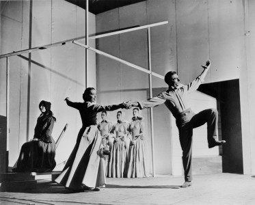 "Martha Graham, Erick Hawkins and the Martha Graham Dance Company in Martha Graham's ""Appalachian Spring"" Courtesy of the Library of Congress"