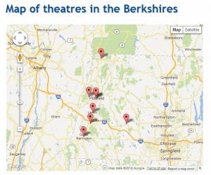 Map of Berkshires theatres