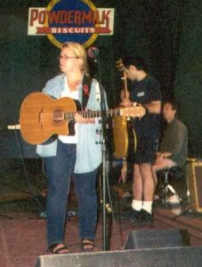 Mary Chapin Carpenter rehearshing for A Prairie Home Companion at Tanglewood