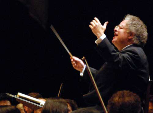 Maestro James Levine conducting the Boston Symphony Orchestra at Tanglewood.