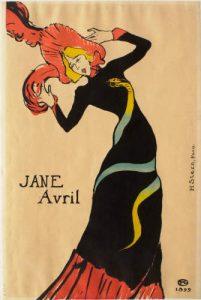 Jane Avril, 1899, by Henri de Toulouse-Lautrec