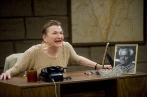 Annette Miller as Golda Meir at Shakespeare and Co.