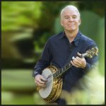 Steve Martin performs on A Prairie Home Companion, with Garrison Keillor at Tanglewood