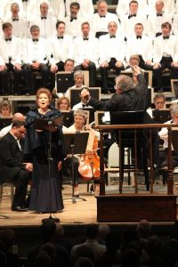 Hei-Kyung Hong, Lames Levine and the BSO perform Brahms' A German Requiem at Tanglewood; Hilary Scott photo