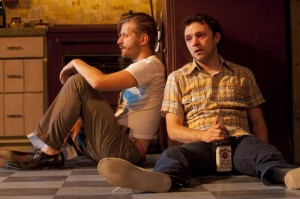 Paul Sparks, Nate Corddry in True West at Williamstown Theatre Festival;   photo: T. Charles Erickson.