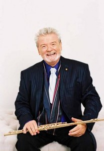 Sir James Galway performs at Tanglewood during 2009 season;photo Paul Cox