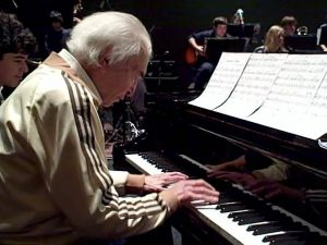 Dave Brubeck in rehearsal with Berkshires Jazz Youth Ensemble