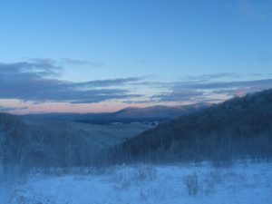 The Berkshires - winter view of Mt. Greylock