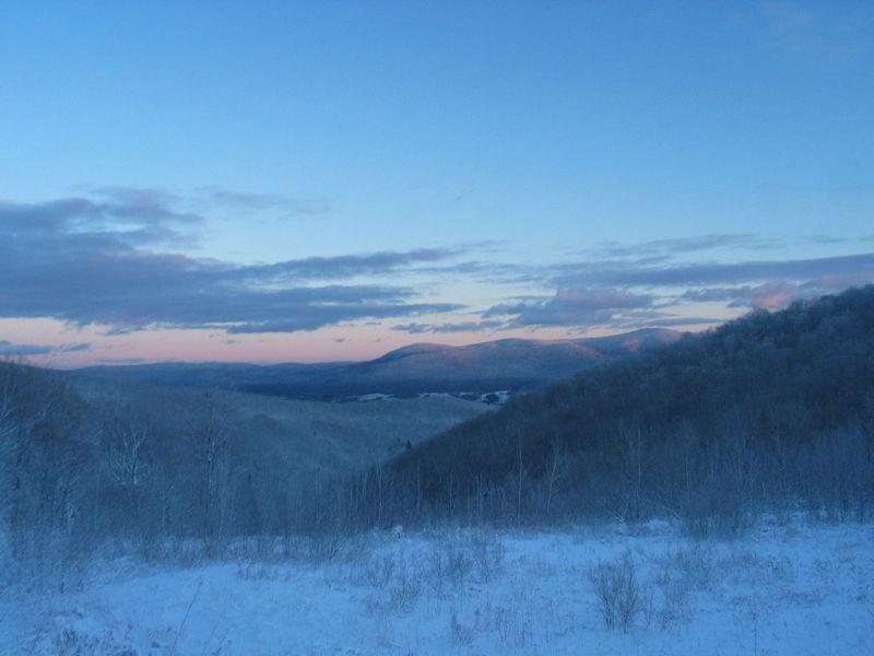The Berkshires - winter view of Mt. Greylock