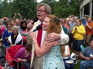Garrison Keillor and Andra Suchy at Tanglewood, June 26, 2010
