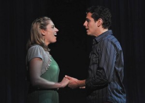 Julie Reiber as Cathy and Paul Anthony Stewart as Jamie in Berkshire Theatre Festival's 2010 Main Stage Production of The Last Five Years by Jason Robert Brown. Directed by Anders Cato. Photo courtesy of Berkshire Theatre Festival.