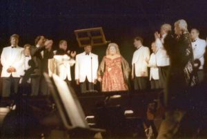 Deborah Voigt and cast of Salome at Tanglewood, Aug, 4, 2001.