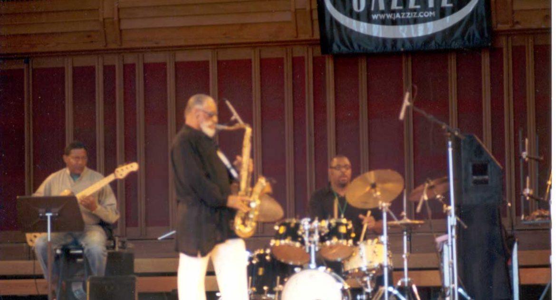 Sonny Rollins center stage at Tanglewood Jazz Festival, Sept, 2, 2001