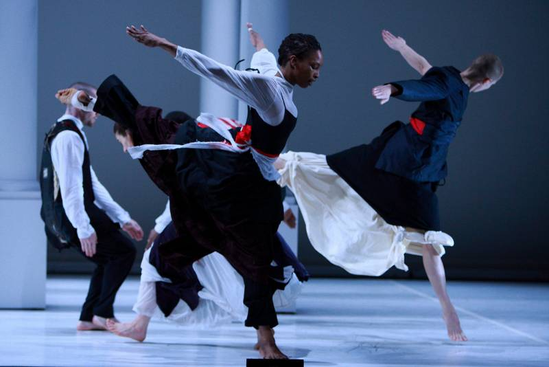 Bill T. Jones/Arnie Zane Dance Company in Serenade/The Proposition; photo Paul B. Goode