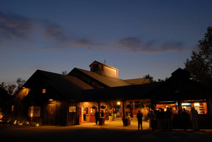The Ted Shawn Theatre at night in 2006. Photo by Christopher Duggan