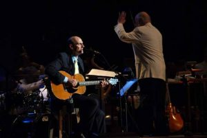 James Taylor at Tanglewood July 1, 2011, with the Boston Pops conducted by John Williams.