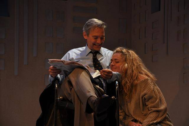 David Adkins and Rachel Bay Jones in BTF's 2011 production of Sylvia by A.R. Gurney. Photo by Jaime Davidson