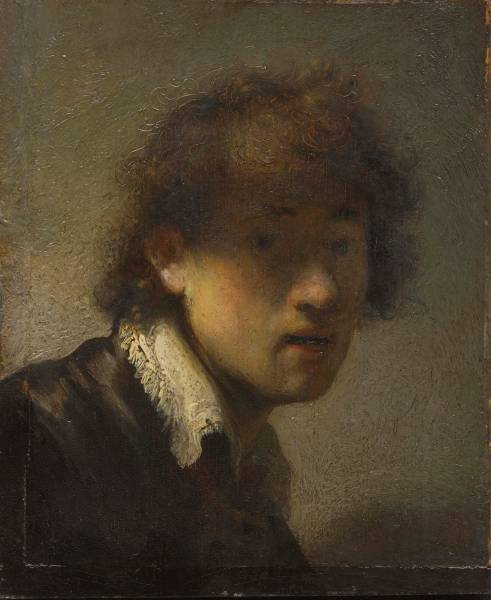 Self-Portrait as a Young Man, 1629, by Rembrandt van Rijn