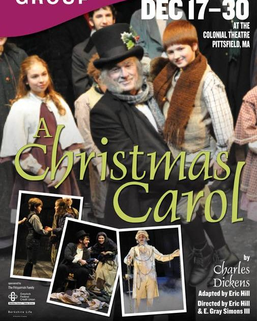 A Christmas Carol at the Colonial Theatre in Pittsfield highlights Berkshires schedules for December 2011.
