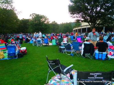 Afternoon segues to evening on the lawn at Tanglewod