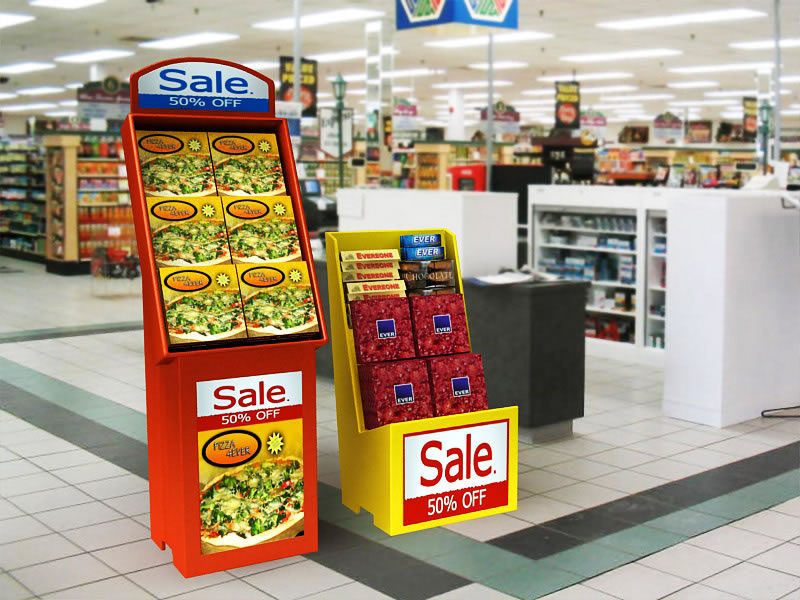 Stack-A-Slant display in grocery setting