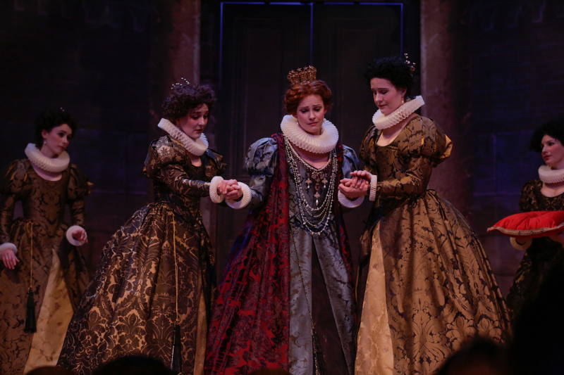 Ulrike Hofbauer and cast in Boston Early Music Festival's 2013 production of Handel's Almira