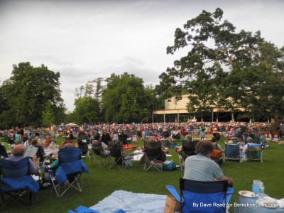 Shed view at Tanglewood June 28, 2014 A Prairie Home Companion