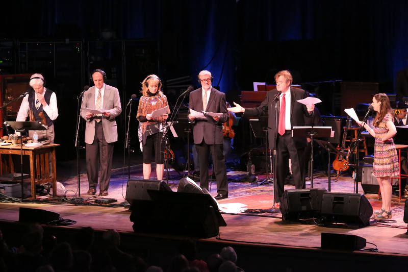 June 27, 2015 broadcast of A Prairie Home Companion at Tanglewood, Garrison Keillor and cast; photo:Hilary Scott