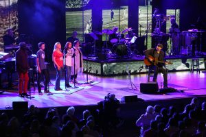 James Taylor and his band performed at Tanglewood on July 4, 2015 (Hilary Scott)