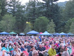 Tanglewood law audience Tony Bennett Lady Gaga concert, June 30, 2015; photo:Dave Read