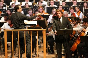 Andris Nelsons and Klaus Florian Vogt with the TMCO performing Mahler's Symphony No. 8, 8.8.15 (Hilary Scott)