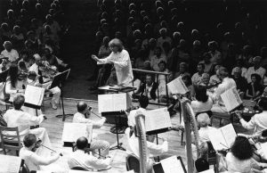 Seiji Ozawa's last Tangleqwood concert as BSO Music Director; photo: Walter Scott.