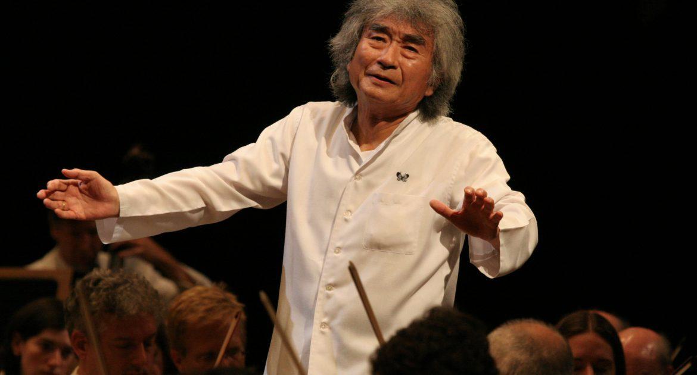 Seiji Ozawa conducts at Tanglewood, Aug. 5, 2006