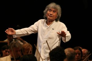 Seiji Ozawa conducts at Tanglewood, Aug. 5, 2006
