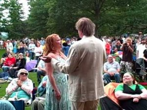 Garrison Keillor and Andra Suchy at Tanglewood, 2010 A Prairie Home Companion