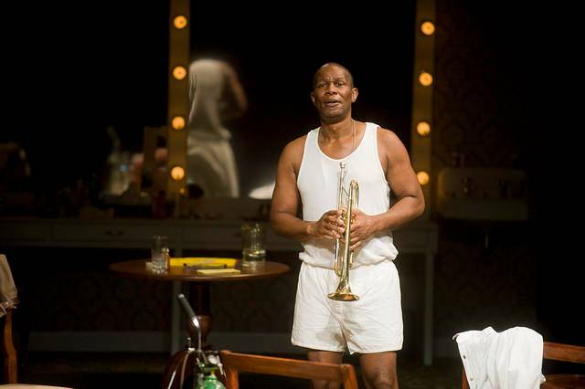 John Douglas Thompson in Satchmo at the Waldorf at Shakespeare and Co.