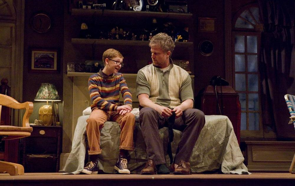 Russell Posner and CJ Wilson in A Thousand Clowns at Berkshire Theatre Festival.
