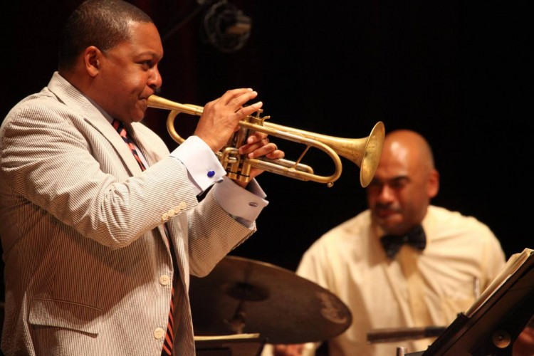 Wynton Marsalis performs with his quintet, Ozawa Hall Tanglewood , Aug.20, 2012; photo:Hilary Scott.