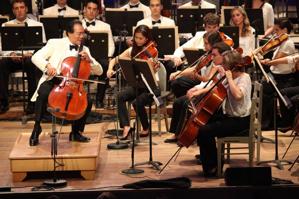 Yo yo ma and tanglewood music center fellows performing at for The tanglewood