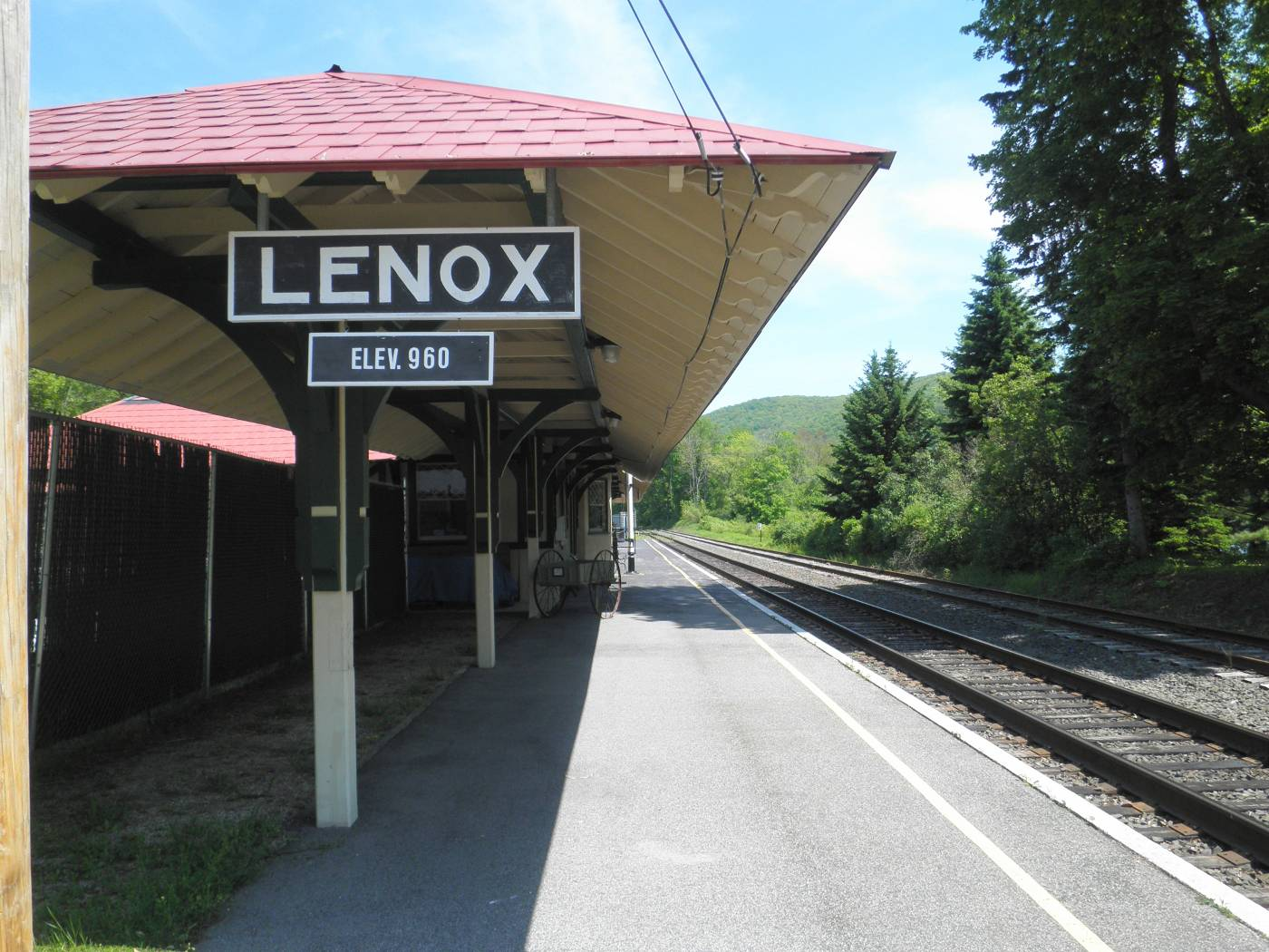 Lenox train depot at Woods Pond, Berkshire Scenic Railway