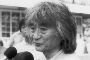 Seiji Ozawa's Tanglewood farewell press conference, July 12, 2002; photos by Dave Conlin Read.